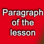 paragraph of the lesson