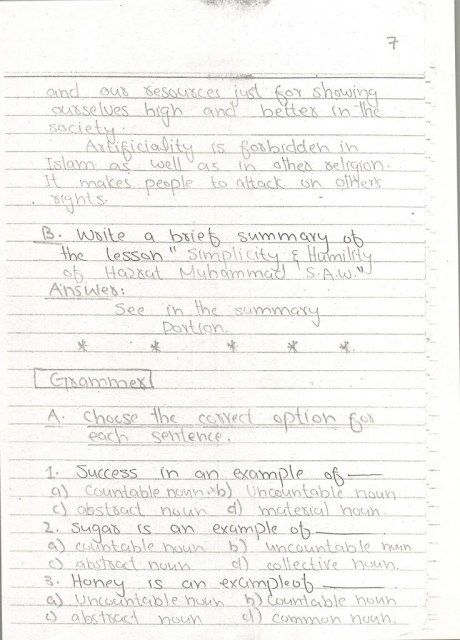 English Notes 10 th Page 07