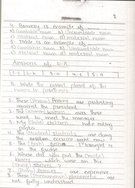 English Notes 10 th Page 08
