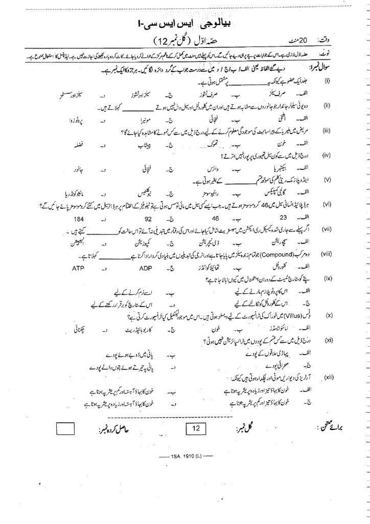 Urdu Medium fbise past apers