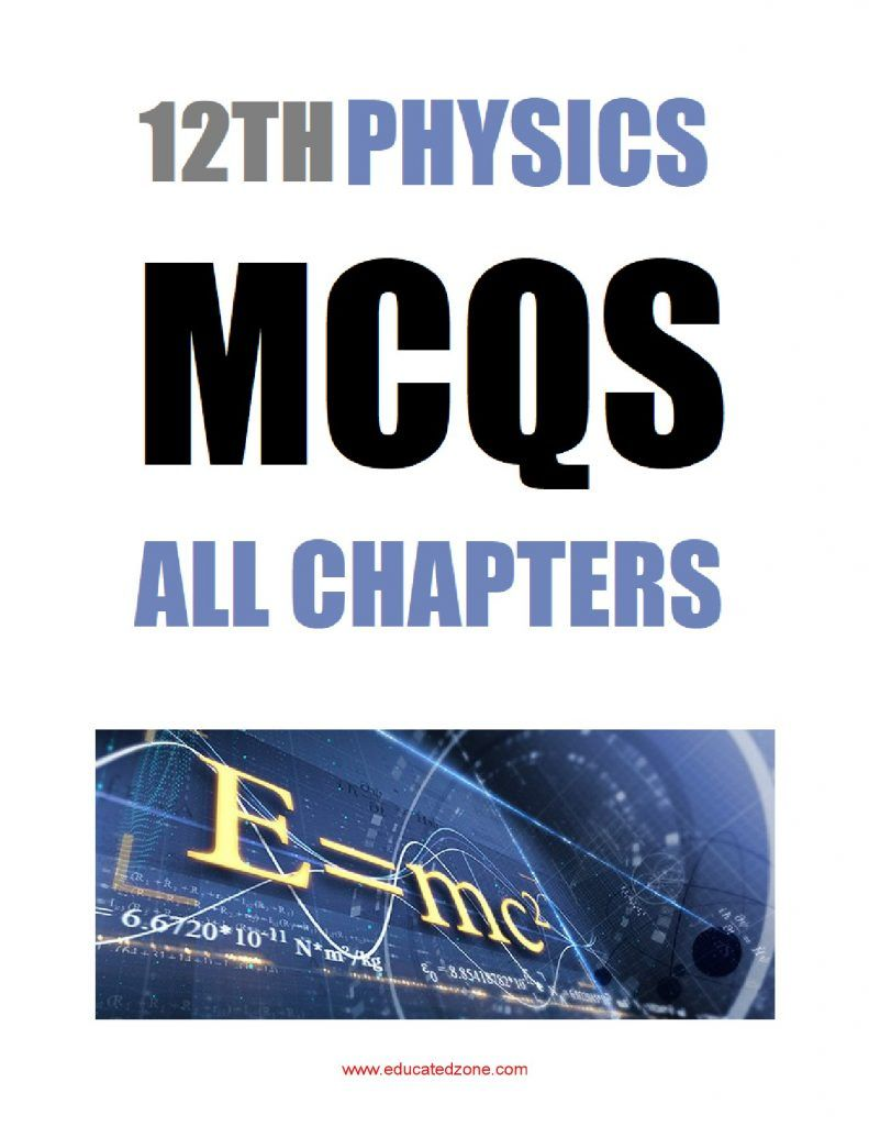 Phycis Class 12 mcqs 1
