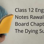 Class 12 English Notes Rawalpindi Board Chapter 1 The Dying Sun