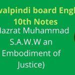 Rawalpindi board English 10th Notes Chapter 1