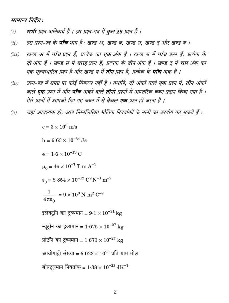 CBSE Class 12 Physics Previous Year Papers 2017 2