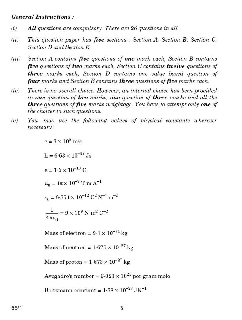 CBSE Class 12 Physics Previous Year Papers 2017 3