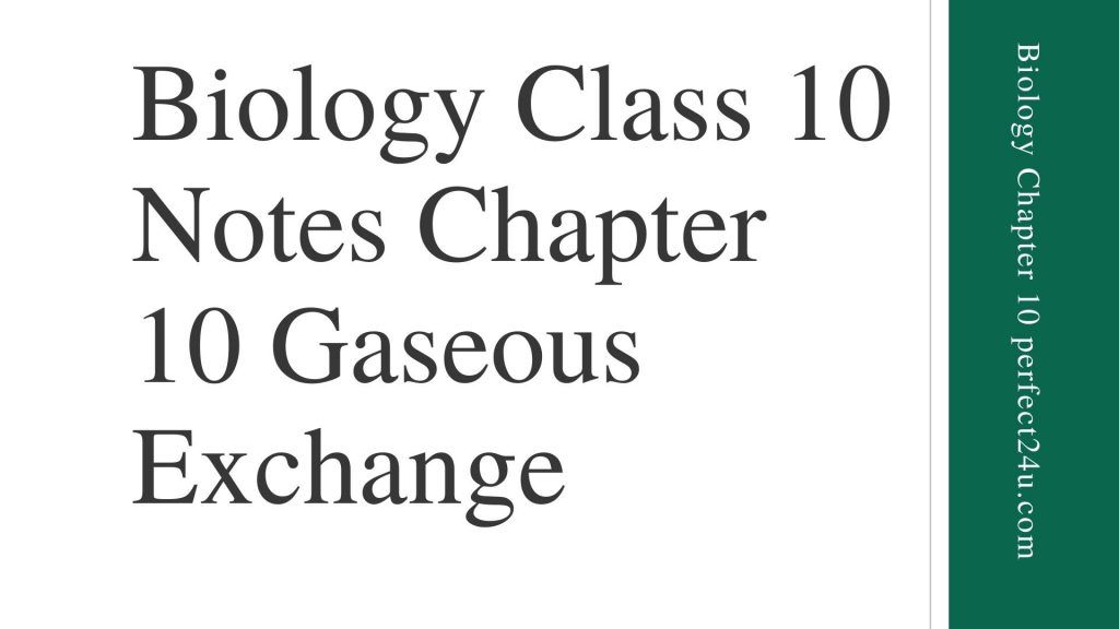 Class 10 Biology Notes   Biology Class 10 Notes Chapter 10 Gaseous Exchange Short Questions, Long question  Review Questions. Easy notes that contain review questions of chapter 10.