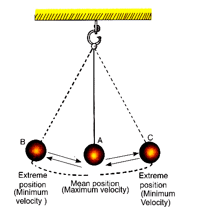 The magnitude of velocity is minimum at extreme positions.