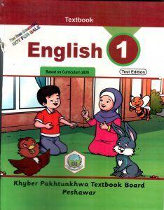 Class 1 English kpk textbook board books 1