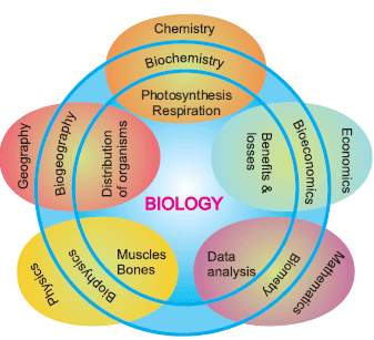 Relationship of biology with other sciences: