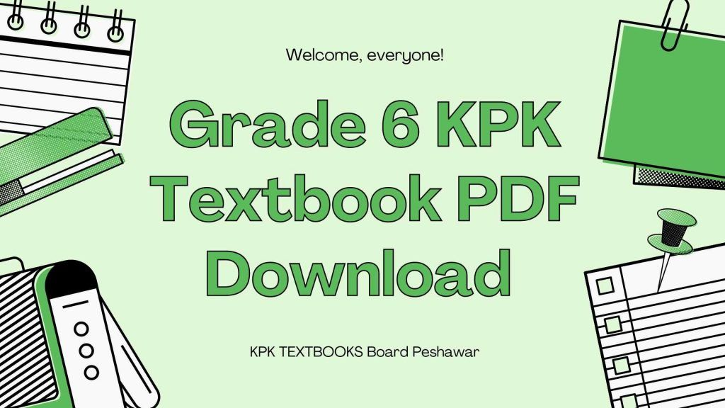 Grade 6 KPK Textbook PDF Download all subjects