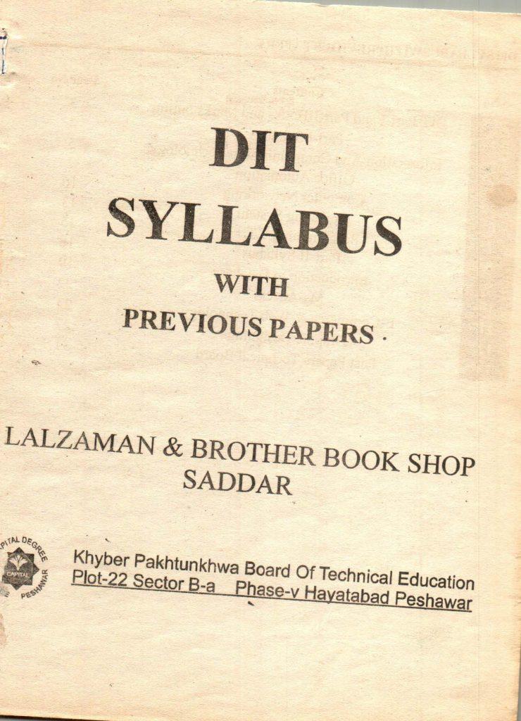 Previous questions papers syllabus dit part 1 part 2 2