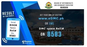 How to check bise Mardan DMC via SMS