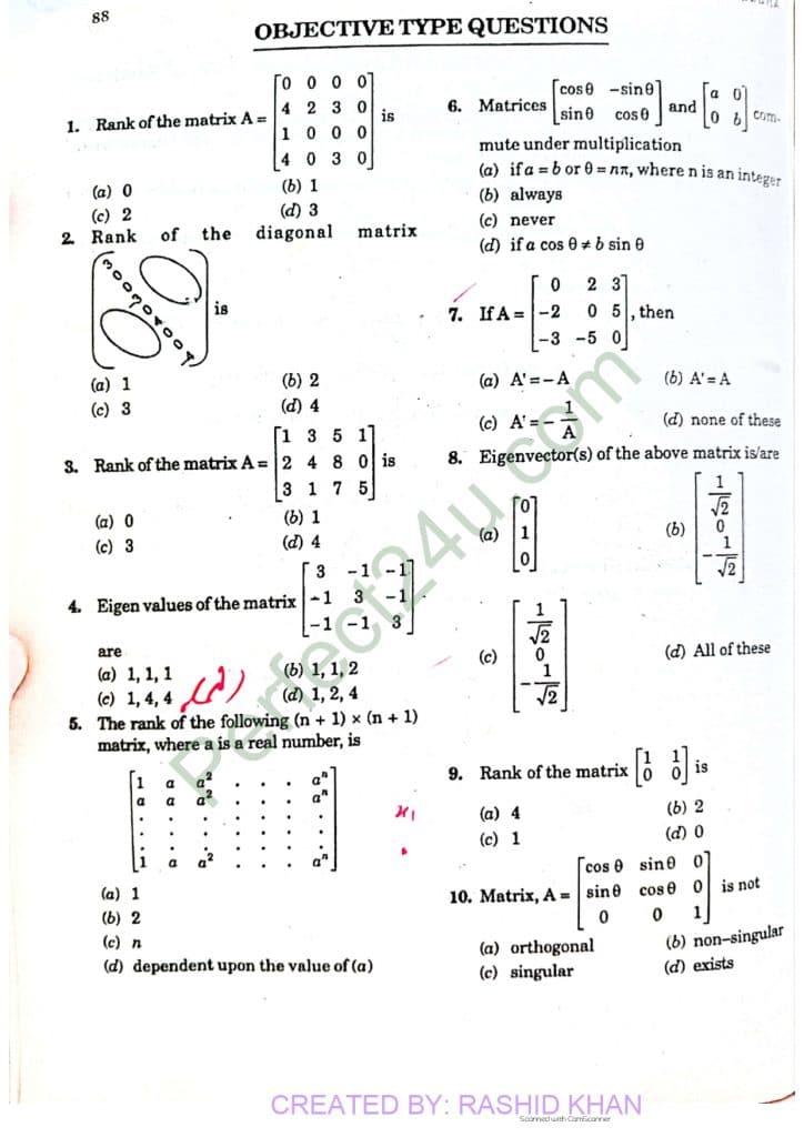Linear algebra Page 6