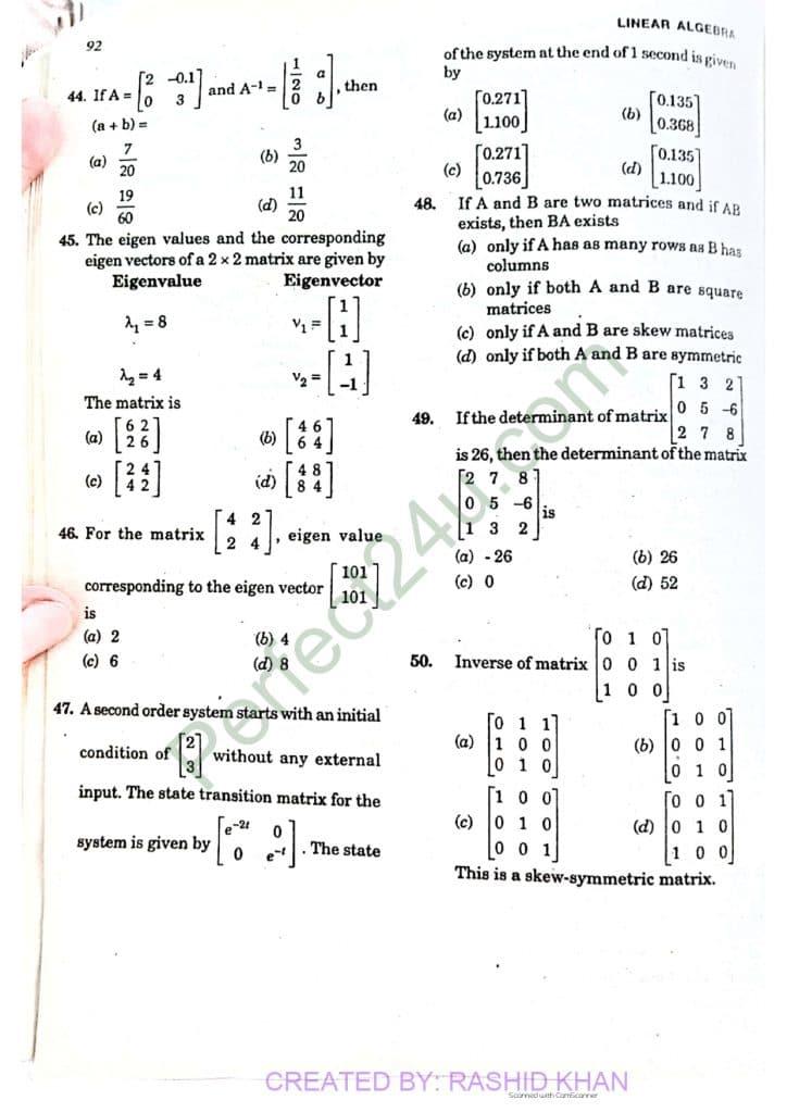Linear algebra 2